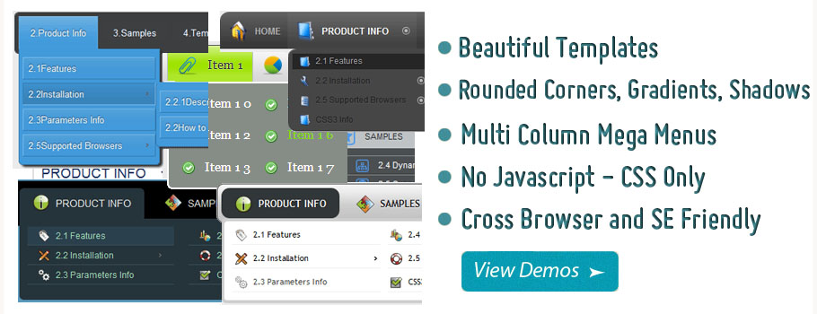 Make Multi Level Html Dropdown Menu Demo