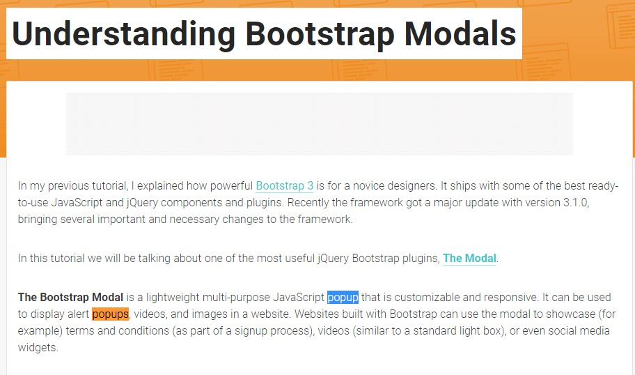 An additional  valuable article about Bootstrap Modal Popup