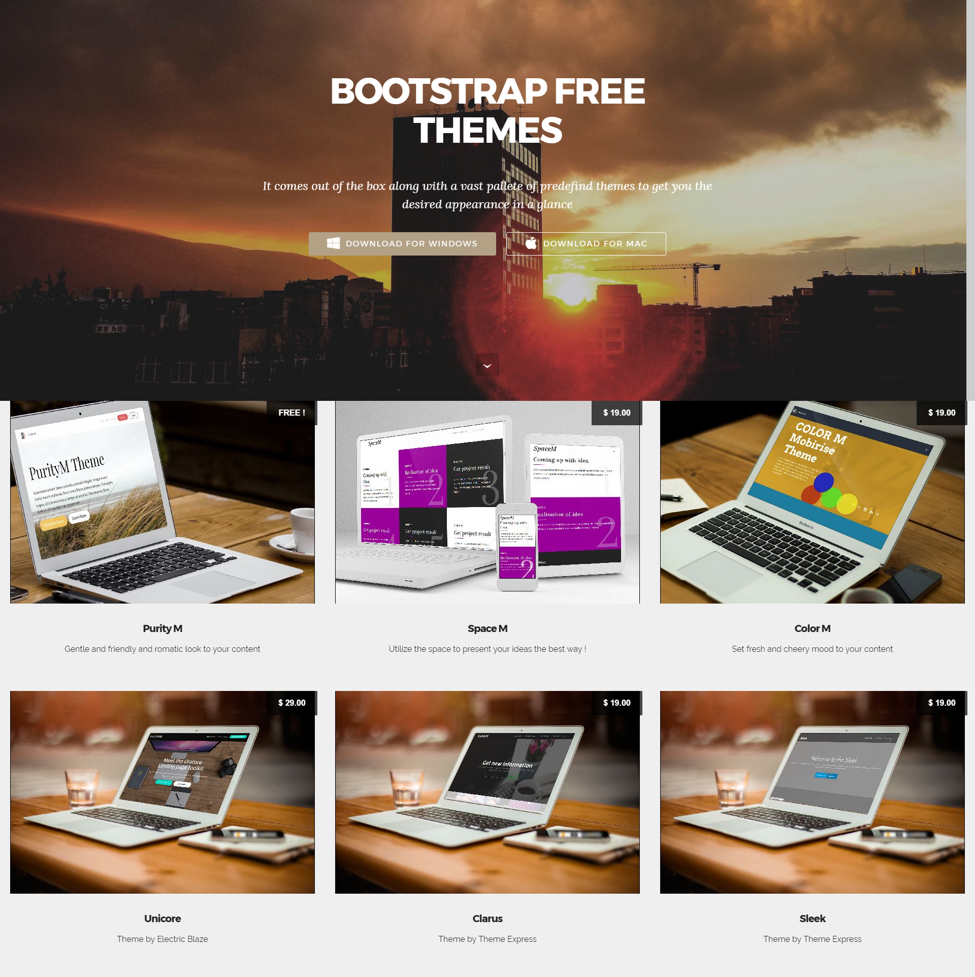HTML5 Bootstrap Mobile-friendly Templates