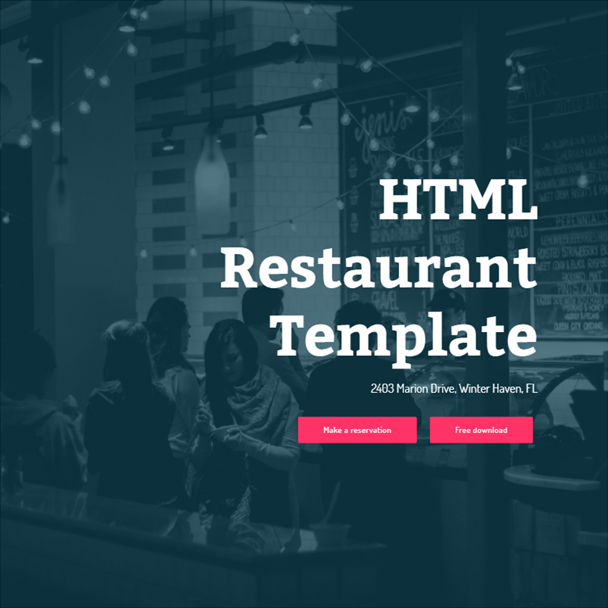 Responsive Bootstrap Restaurant Themes