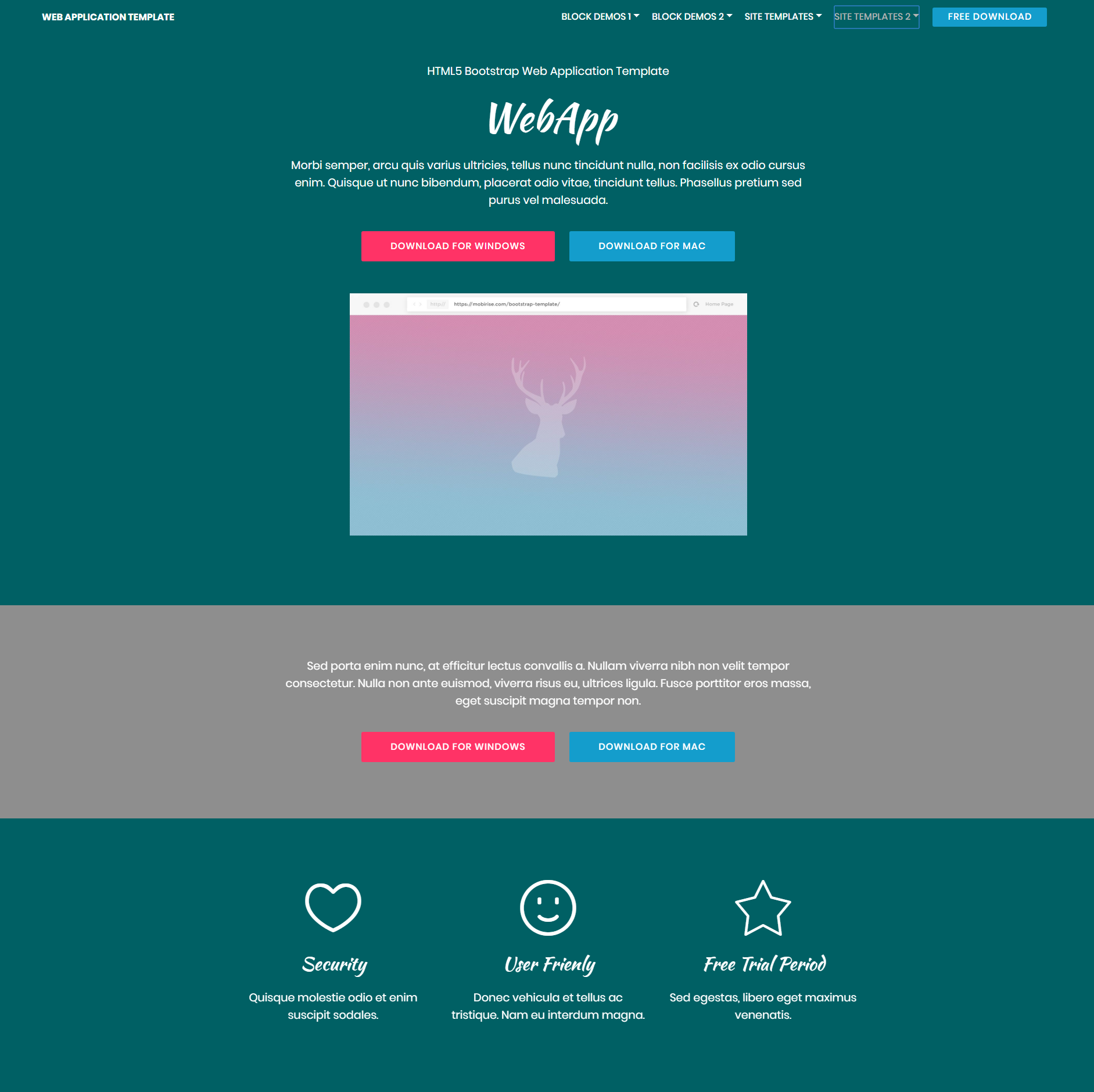 Free Download Bootstrap Web Application Themes