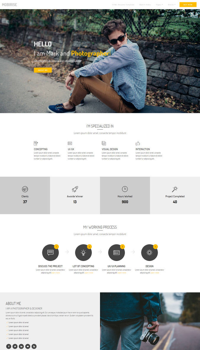 Portfolio Website Templates