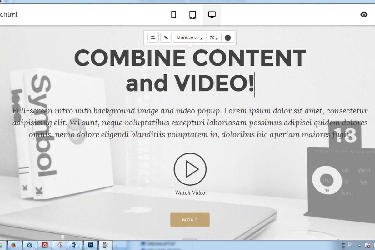 WYSIWYG Responsive Site Creator Software