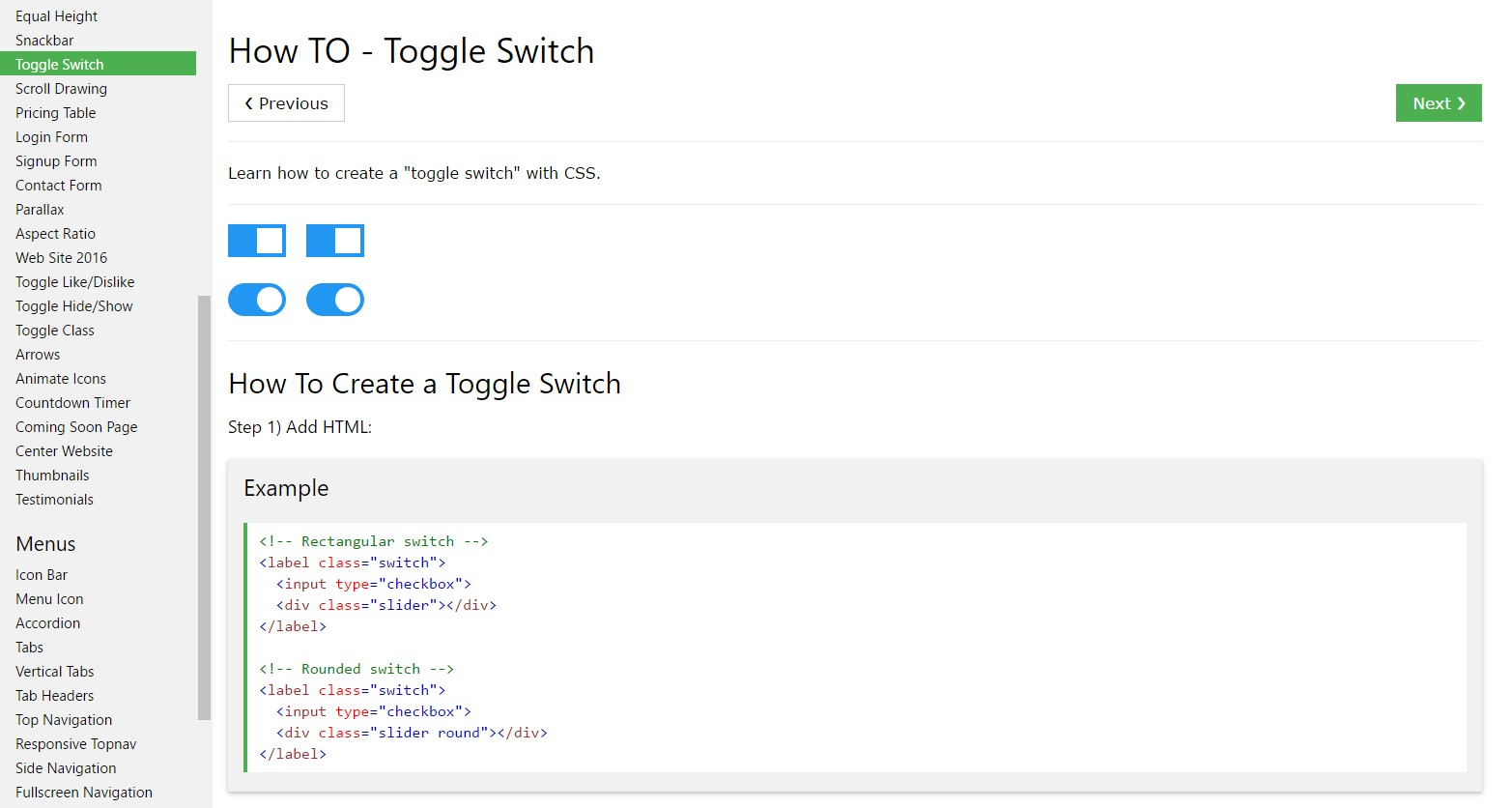 The best ways to  provide Toggle Switch