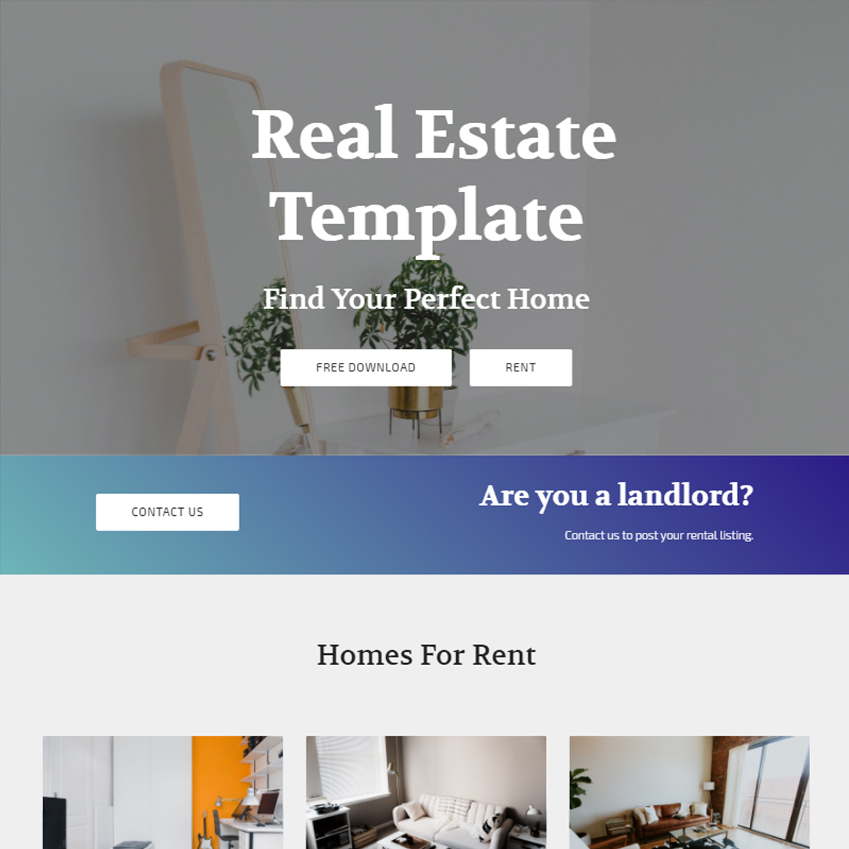 HTML5 Bootstrap Real Estate Themes