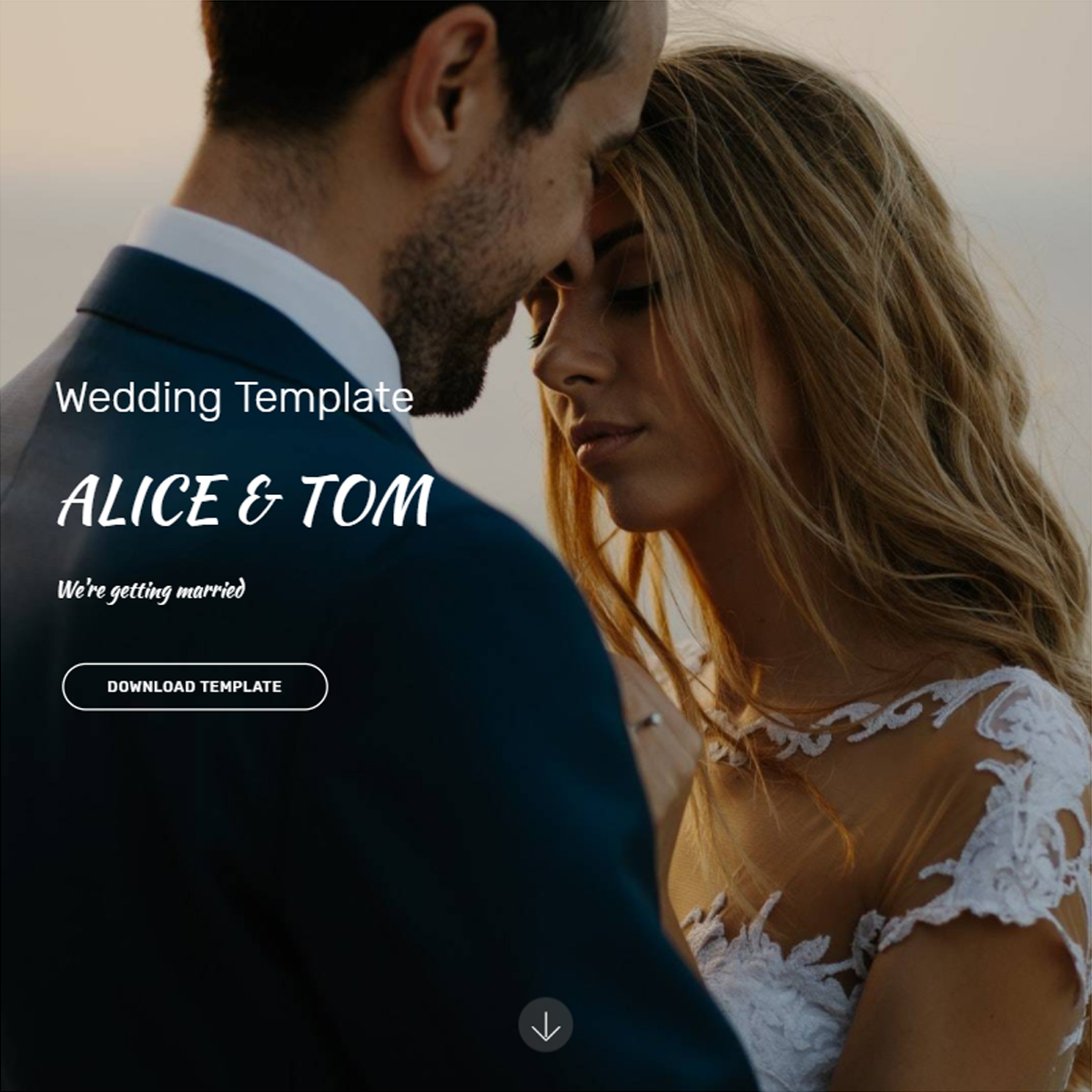 CSS3 Bootstrap Wedding Themes