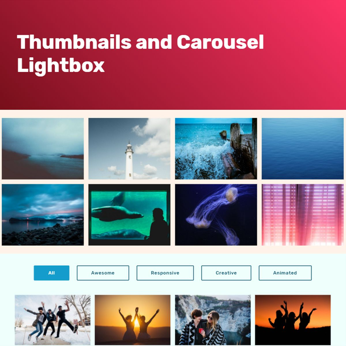 HTML Bootstrap Photo Carousel